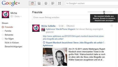 Google führt neuen Filter gegen Nachrichtenflut einzelner Kreise in Google+ ... - SoNeBa | social media germany | Scoop.it