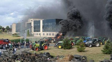 CARTE INTERACTIVE | Les agriculteurs du Grand Ouest en ordre de bataille contre Lactalis à Laval - France bleu | Le Fil @gricole | Scoop.it