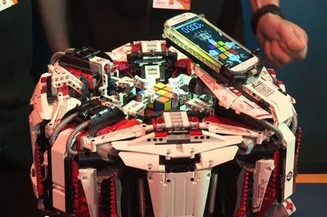 Un Rubik's Cube résolu en 3253 secondes par… un robot en LEGO - Be Geek   Lego is not a game... not only   Scoop.it