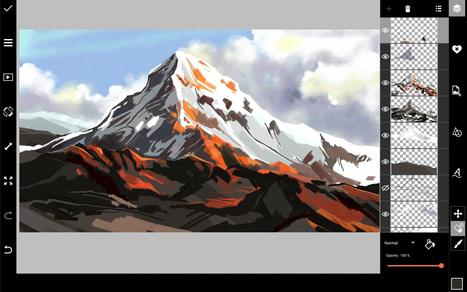 How to Draw a Mountain with PicsArt | Drawing and Painting Tutorials | Scoop.it