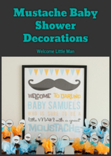 Mustache Baby Shower Decorations: Welcome Little Man | Home Life | Scoop.it