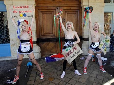 Des militantes seins nus manifestent devant le domicile de DSK | Epic pics | Scoop.it