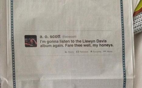 En image : la publicité originale de Inside Llewyn Davis dans le New York Times | publicité | Scoop.it