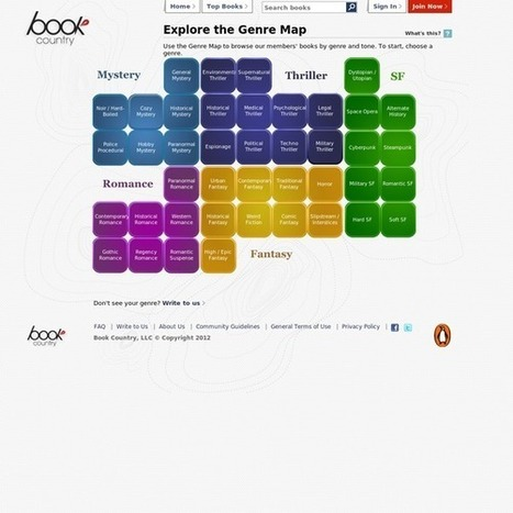 Book Country: Discover New Fiction with the Genre Map | Ray's Book Stuff | Scoop.it