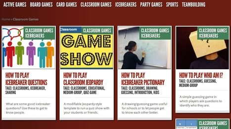 Classroom Games Icebreakers | How Do You Play | A New Society, a new education! | Scoop.it