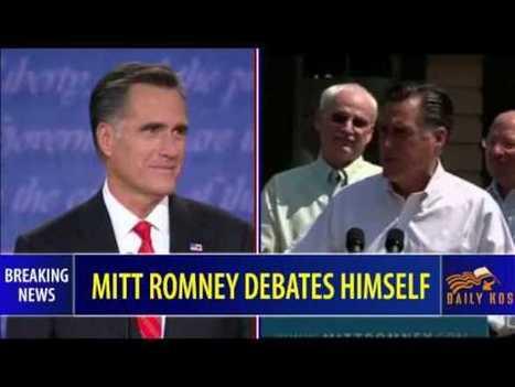 Daily Kos: Mitt Romney debates himself | Positively Political | Scoop.it