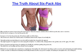 The Truth About Six-Pack Abs ~ Health and Fitness | Health and Fitness | Scoop.it