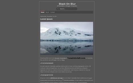 Dark Grey Free Blogger Theme Template Download | Blogger themes | Scoop.it