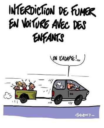 Interdiction de fumer en voiture avec des enfants | Baie d'humour | Scoop.it