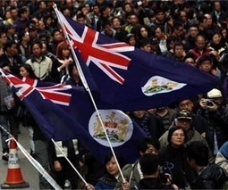 Colonial flags fly as anger grows in Hong Kong | Sustain Our Earth | Scoop.it