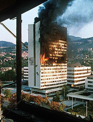 Bombing destruction of Sarajevo, the capital of Bosnia-Herzegovina | The Cellist of Sarajevo (Siege of Sarajevo) | Scoop.it