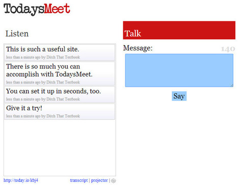 20 useful ways to use TodaysMeet in schools | Ditch That Textbook | Web 2.0 for Education | Scoop.it
