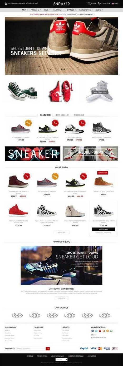 Gala Sneaker Responsive Magento Theme - ServerThemes.Net | Best Premium Magento Themes | Scoop.it