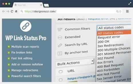 WP Link Status Pro Plugin - Fix Broken Links & Manage Redirections | Designrazzi | Designrazzi | Scoop.it