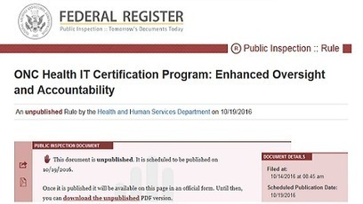 ONC Health IT Certification Program Enhanced Oversight and Accountability Final Rule Released   Electronic Health Information Exchange   Scoop.it