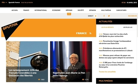Sputnik : l'œil de Moscou sur la France | Voie Militante | Scoop.it