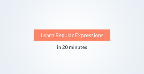 Learn Regular Expressions in 20 Minutes | Tutorialzine | SPIP - cms, javascripts et copyleft | Scoop.it