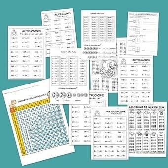 Fichas de multiplicaciones para primaria - Escuela en la nube | En el colegio | Scoop.it