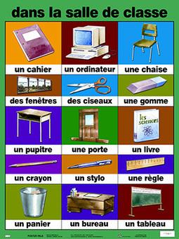 À L'école--La salle de classe et les fournitures scolaires... | Madame Raman | Scoop.it