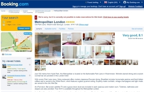 Massive discount on Booking.com sees 2014 run on reservations at London hotel | Web Marketing Turistico | Scoop.it