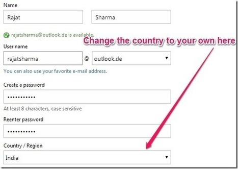 How To Get Outlook.com Country Specific Account For Any Country | Time to Learn | Scoop.it