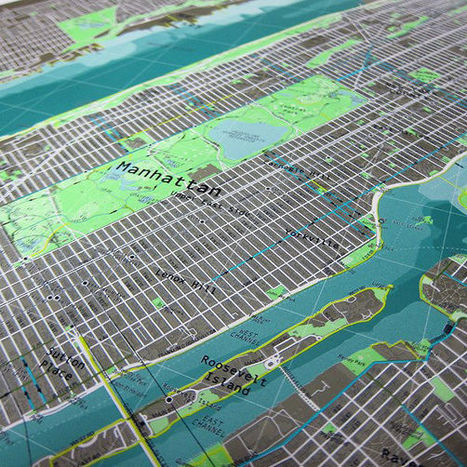 See A Beautiful, Data-Enriched Map of New York City | visual data | Scoop.it
