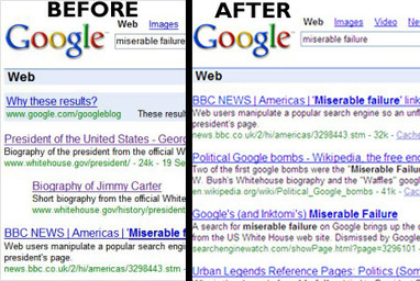 Google Kills Bush's Miserable Failure Search & Other Google Bombs | SEO and Social Media | Scoop.it