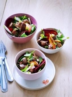 Salade tiède au foie de veau laqué au miel | Consomm'actions | Scoop.it