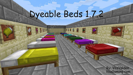Minecraft Dyeable Beds Mod for 1.7.2 | Game | Scoop.it