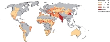 Population density in drylands of the World - Maps and Graphics at UNEP/GRID-Arendal | IB Geography (Diploma Programme) | Scoop.it