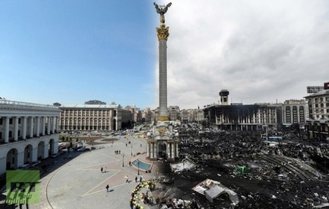 Striking Images of Ukraine Before and After the Recent Riots... | Art for art's sake... | Scoop.it