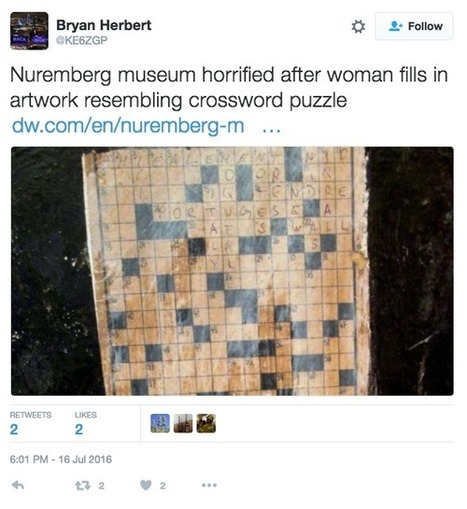 Woman Fills in Crossword Puzzle Artwork and Claims Copyright | Copyright news and views from around the world | Scoop.it