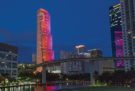Miami Tower Adds Dramatic Energy Savings Twist to Icon Skyline Lighting System | Science Wow Factor | Scoop.it