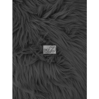Solid Grizzly Shaggy Fake Fur Fabric / Black / Sold By The Yard | Fabric Shopping Online | Scoop.it