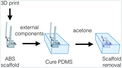 Simple 3D Printed Scaffold-Removal Method for the Fabrication of Intricate Microfluidic Devices   Dernières innovations technologiques   Scoop.it