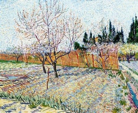 Oil painting reproduction: Vincent Van Gogh Orchard With Peach Trees In Blossom 1888 - Artisoo.com | Artisoo Chinese Painting | Scoop.it
