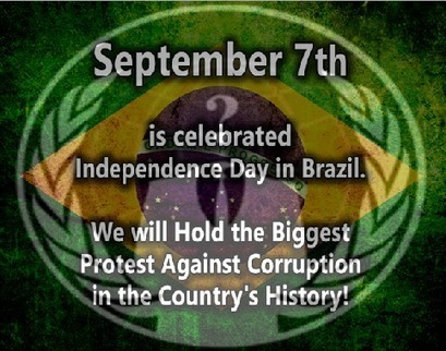 #OP7: Anonymous Brazil calls for biggest protest in the history of Brazil on September 7 | Anonymous Canada International news | Scoop.it