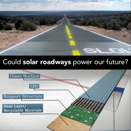 The Solar Roadway - A Series of Structurally-Engineered Solar Panels that are Driven Upon | Amazing Science | Scoop.it