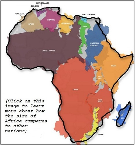 Geography Lesson: Just How Big is Africa? | Big Picture Agriculture | Technology in Art And Education | Scoop.it
