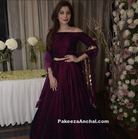 Kanika Kapoor in Off Shoulder style Lehenga Choli by Manish Malhotra | Indian Fashion Updates | Scoop.it