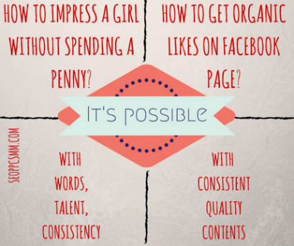 Impress a Girl without Spending a Penny = Get Organic Likes in Facebook | Social Media Marketing Tribune | Scoop.it