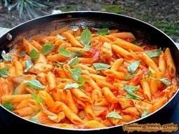 Paste cu piept de pui si sos de rosii | Food and recipes | Scoop.it