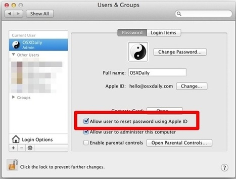 Assign an Apple ID to a Mac User Account in OS X for Added Peace of Mind | Better teaching, more learning | Scoop.it