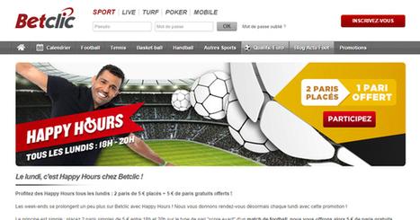 Happy Hour BetClic, tous les lundis de 18h à 20h | Paris sportifs & bookmakers | Scoop.it