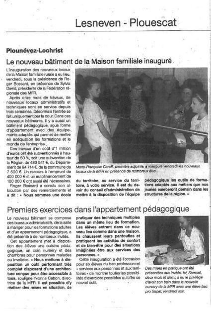 LE NOUVEAU BATIMENT INAUGURE - Le blog de mfr.plounevez.over-blog.com | MFR PLOUNEVEZ-LOCHRIST | Scoop.it