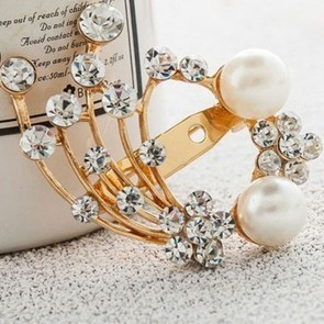 Fashion Rhinestone Pearl Peacock Shape Brooch | Engagement Rings | Scoop.it