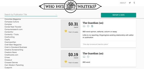 Who Pays Writers' crowdsourced data reveals how much publications pay freelancers | brandjournalism | Scoop.it