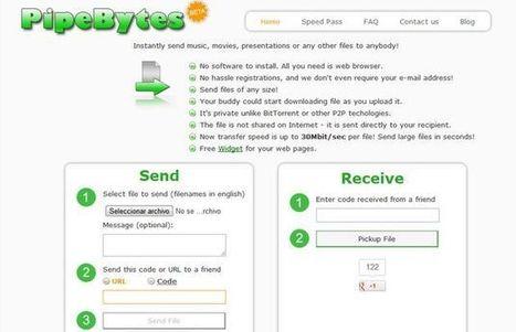PypeBytes, envía gratis archivos sin ninguna limitación de tamaño | ELE  y Herramientas WEB | Scoop.it