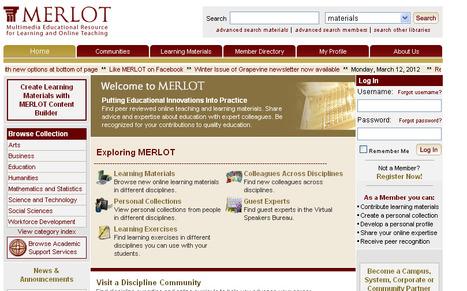 MERLOT - Multimedia Educational Resource for Learning and Online Teaching   SchooL-i-Tecs 101   Scoop.it