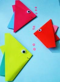 Learning Ideas - Grades K-8: How to Make Origami Fish | Trabalhos Manuais no Jardim de Infância | Scoop.it